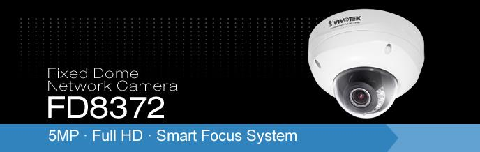 5MP Full HD Smart Focus System Dome Network Camera FD8372